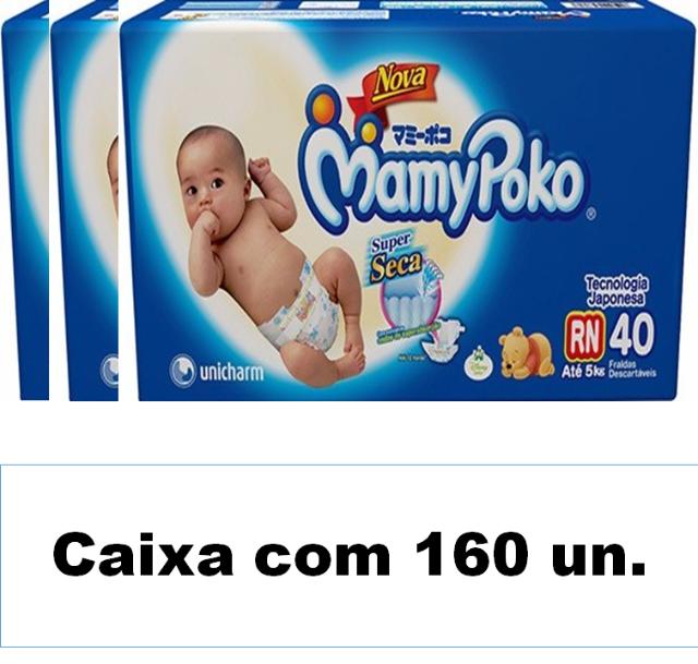 Mamypoko Super seca Recém-Nascido caixa com 160 unidades