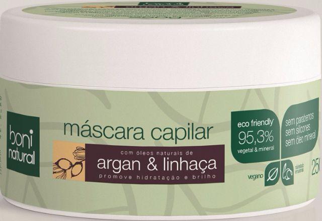 Máscara capilar Boni Natural argan & linhaça 250g