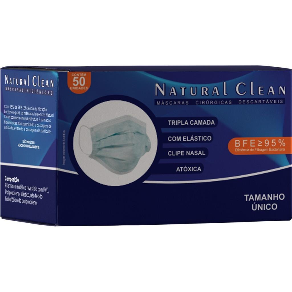 Mascara tripla proteção Natural Clean com 50 unidades