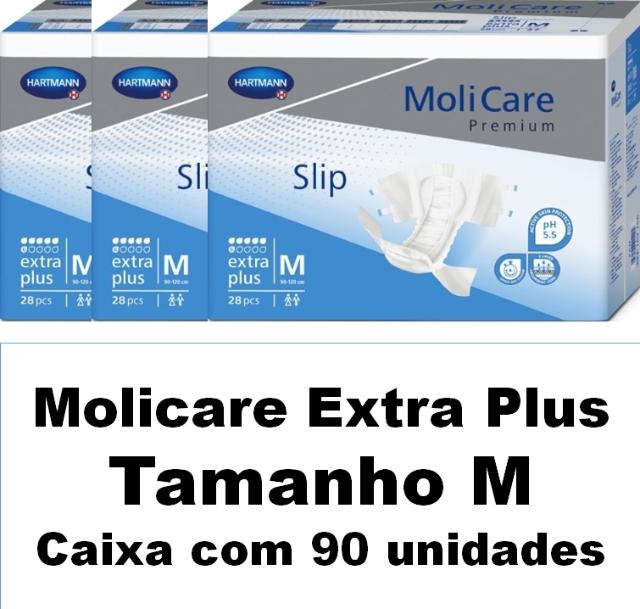 Molicare premium slip extra plus Média caixa com 90 unidades