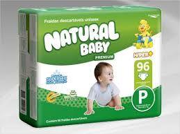 Natural baby Hyper+ premium Pequeno com 96 unidades