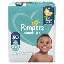 Pamper Confort sec Super Extra-Grande com 30 unidades