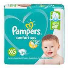 Pampers Confort sec Extra-grande  com 34 unidades