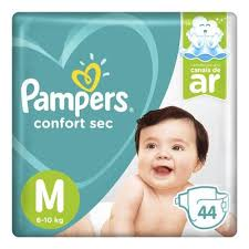 Pampers Confort sec Médio com 44 unidades