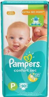 Pampers Confort sec Pequeno com 50 unidades