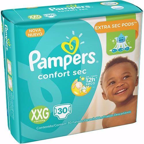Pampers Confort sec Super Extra-grande com 30 unidades