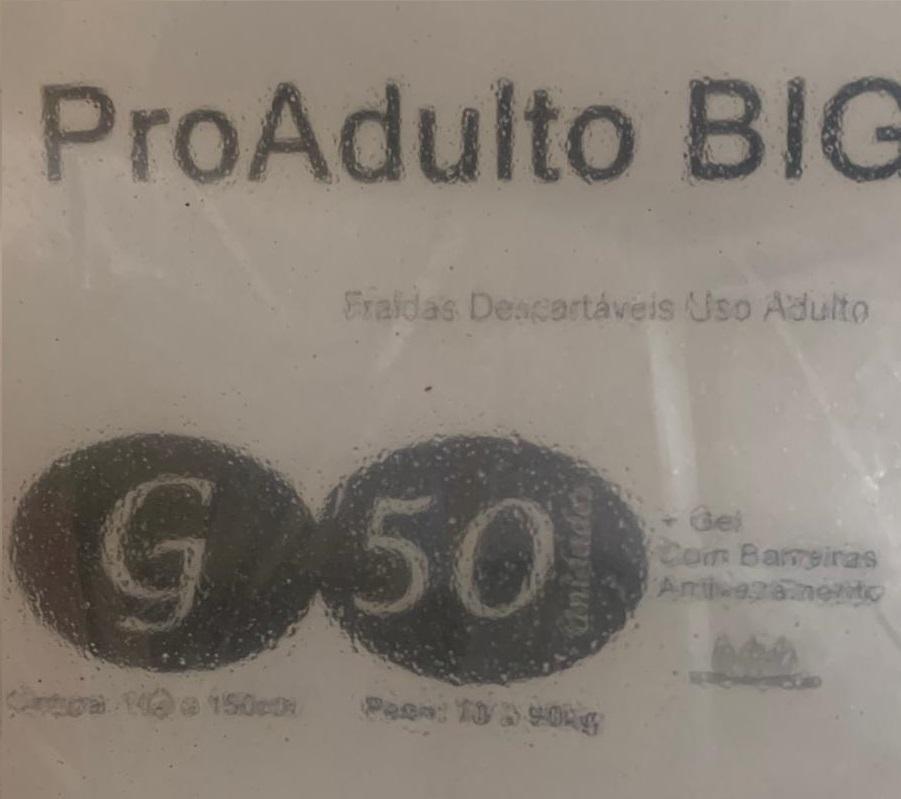 Pro Adulto Big Grande com 50 unidades