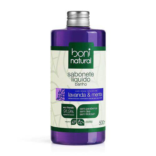 Sabonete liquido Boni Natural lavanda & menta 500ml