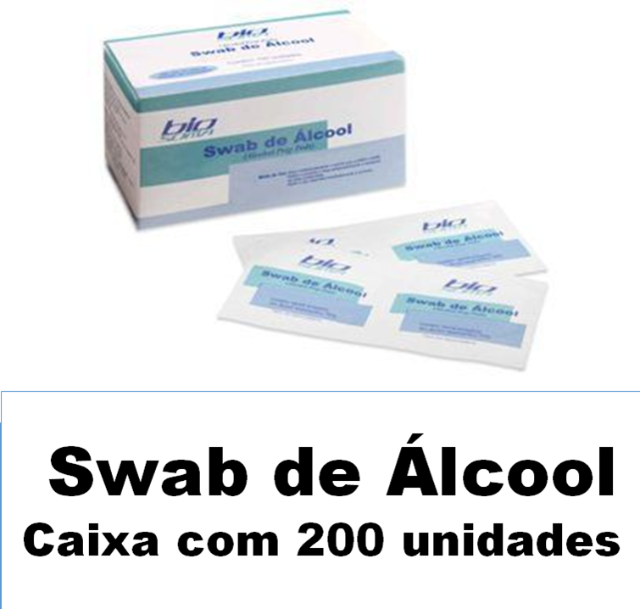 Swab de álcool Biosoma caixa com 200 unidades