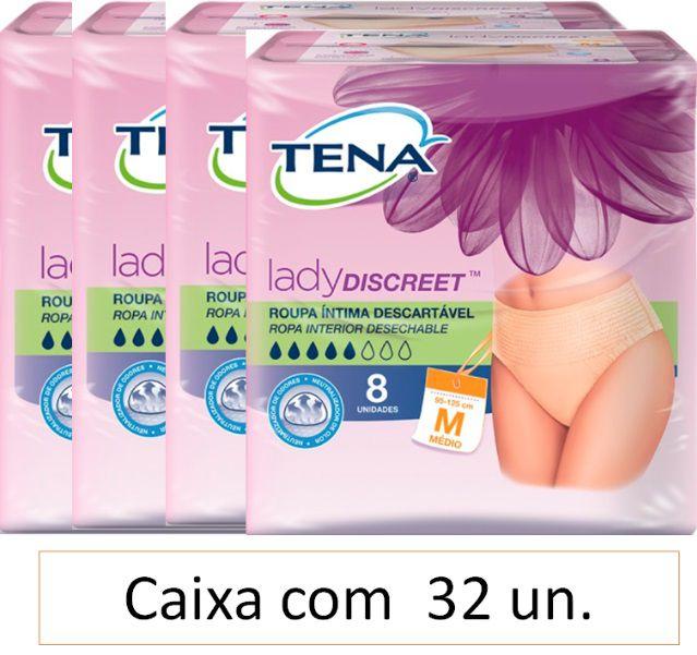 Tena lady discreet - Roupa Íntima Média com 32 unidades