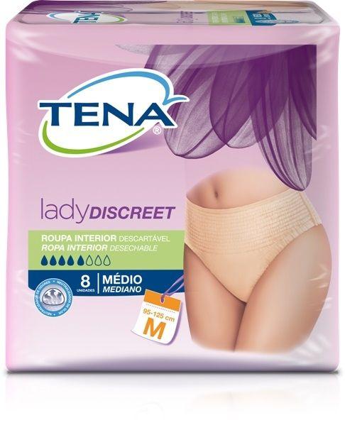 Tena lady discreet - Roupa Íntima Média com 8 unidades