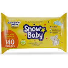 Toalhinhas umedecidas Snow baby hidratação intensa com 140 unidades