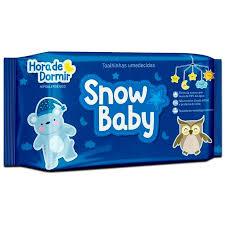 Toalhinhas umedecidas Snow baby Hora de dormir  com 140 unidades