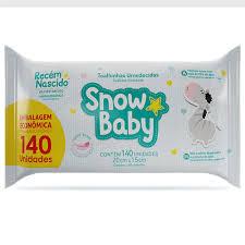 Toalhinhas umedecidas Snow baby Recém nascido com 140 unidades