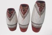 Kit Vaso de Cerâmica Com Laço C/3 Pçs