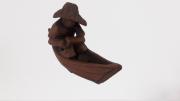 Mini Escultura Homem no Barco 01-87