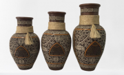 Vaso Decorativo Com Corda C/3 Pçs
