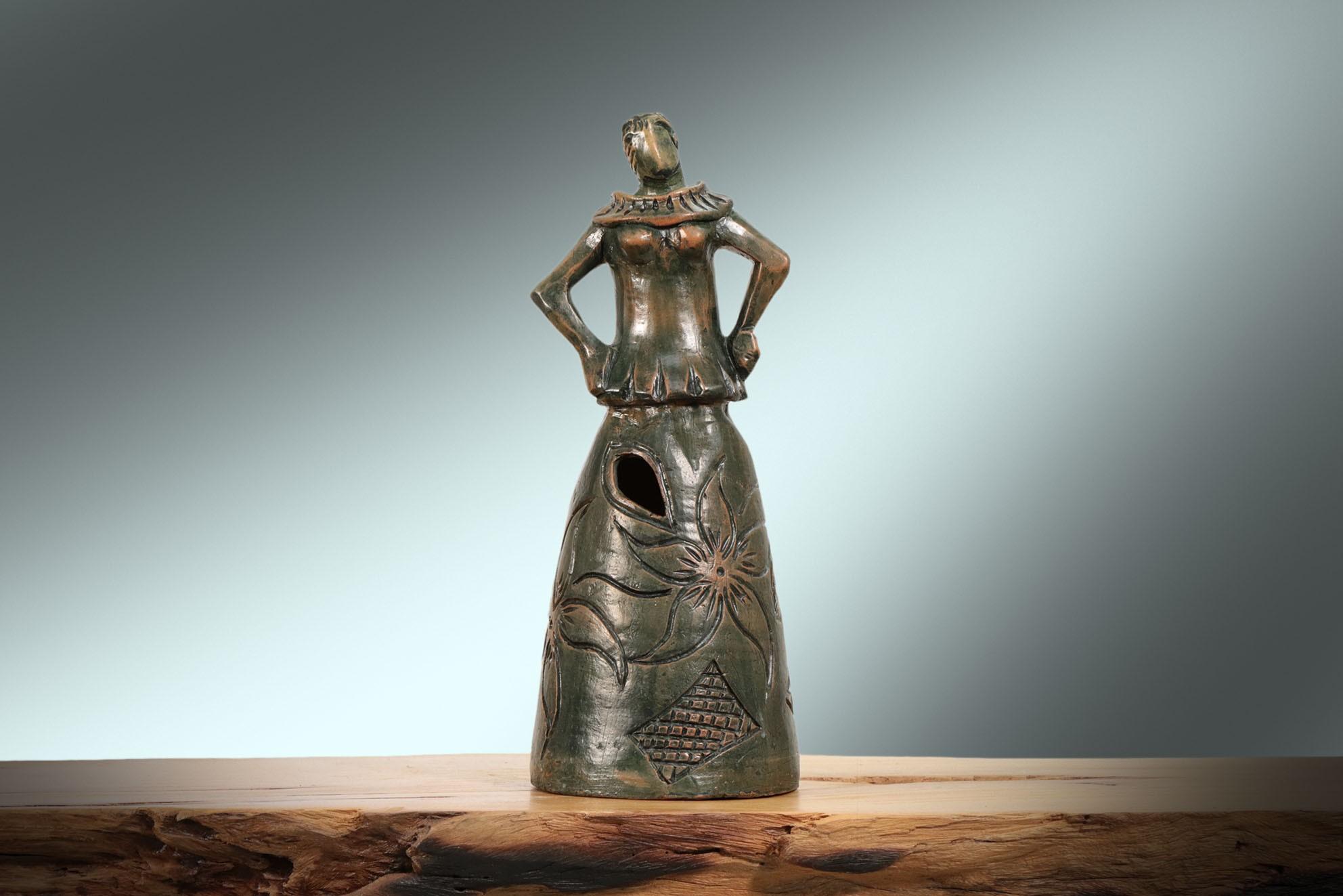 Escultura Mulher Rendeira