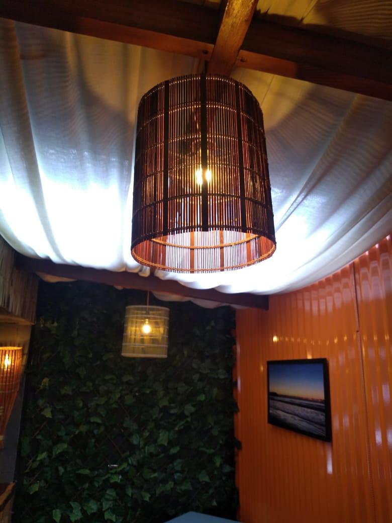 Luminária de Palha Teto II 370-13