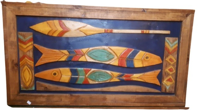 Quadro 3 peixes Grande
