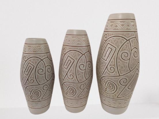 Vaso Decorativo Macapá Branco C/3 Pçs