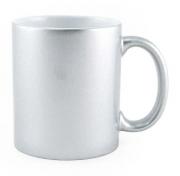 Caneca de Porcelana Espelhada Prata para Sublimação 325 ml