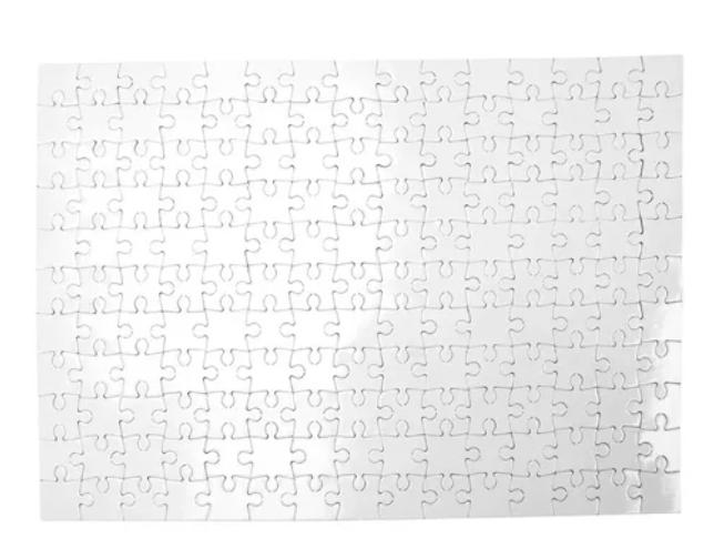 45 QUEBRA CABEÇAS SUBLIMAÇÃO COM BRILHO 120 PCS