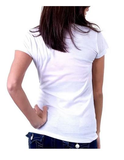 Camiseta de Poliéster Baby Look para Sublimação Branca