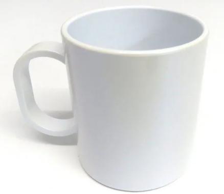 Caneca Branca Polímero Sublimação 325 ml