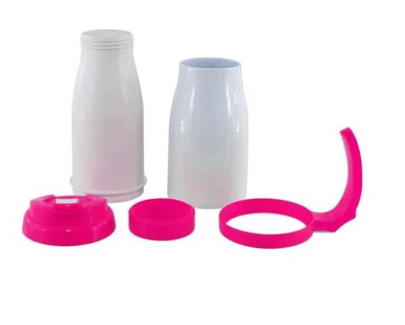Caneca Copo Térmico Polímero para Sublimação 490 ml Rosa