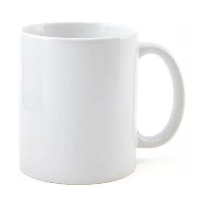 Caneca de Porcelana  Branca Sublimação AAA 325 ml