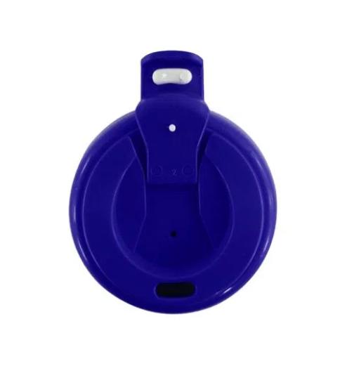 Squeeze de Polímero Branco para Sublimação com Tampa Azul - 475ml