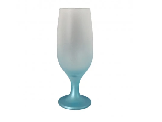 Taça Tulipa Copo Cerveja Sublimação Degrade Azul 300ml