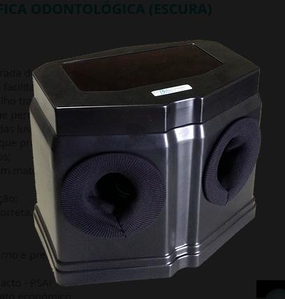 Câmara BLACK Revelação Radiográfica Odontológica sem Iluminação