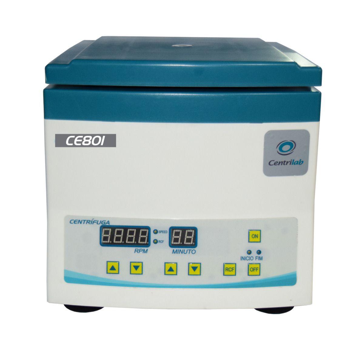 Centrífuga Clínica Digital para 12 Tubos de 15mL e 5mL Com Motor de Indução