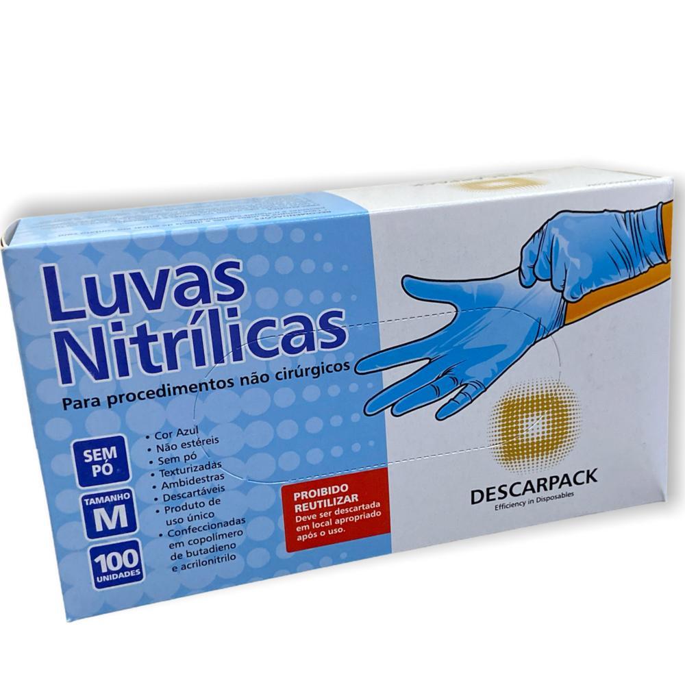 Luva Nitrílica M 100UN - Descarpack