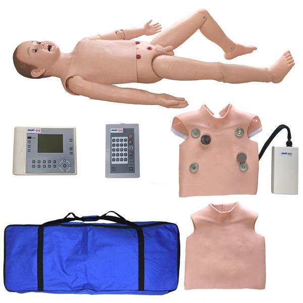 Manequim infantil bissexual simulador para treino de suporte avançado ACLS