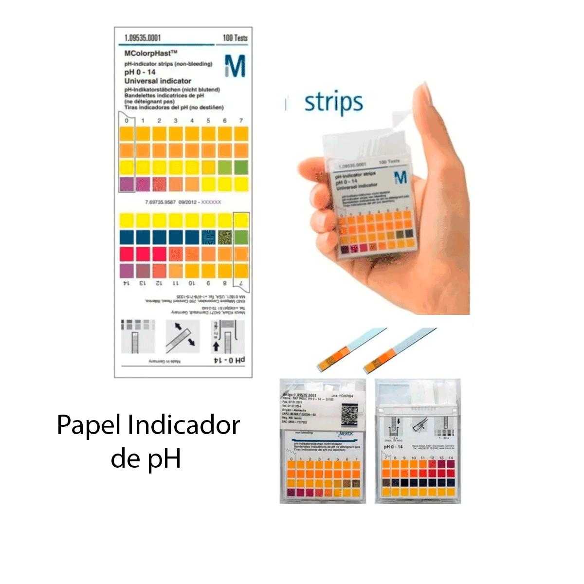 Papel Indicador de pH 0-14  com 100 tiras - Merck