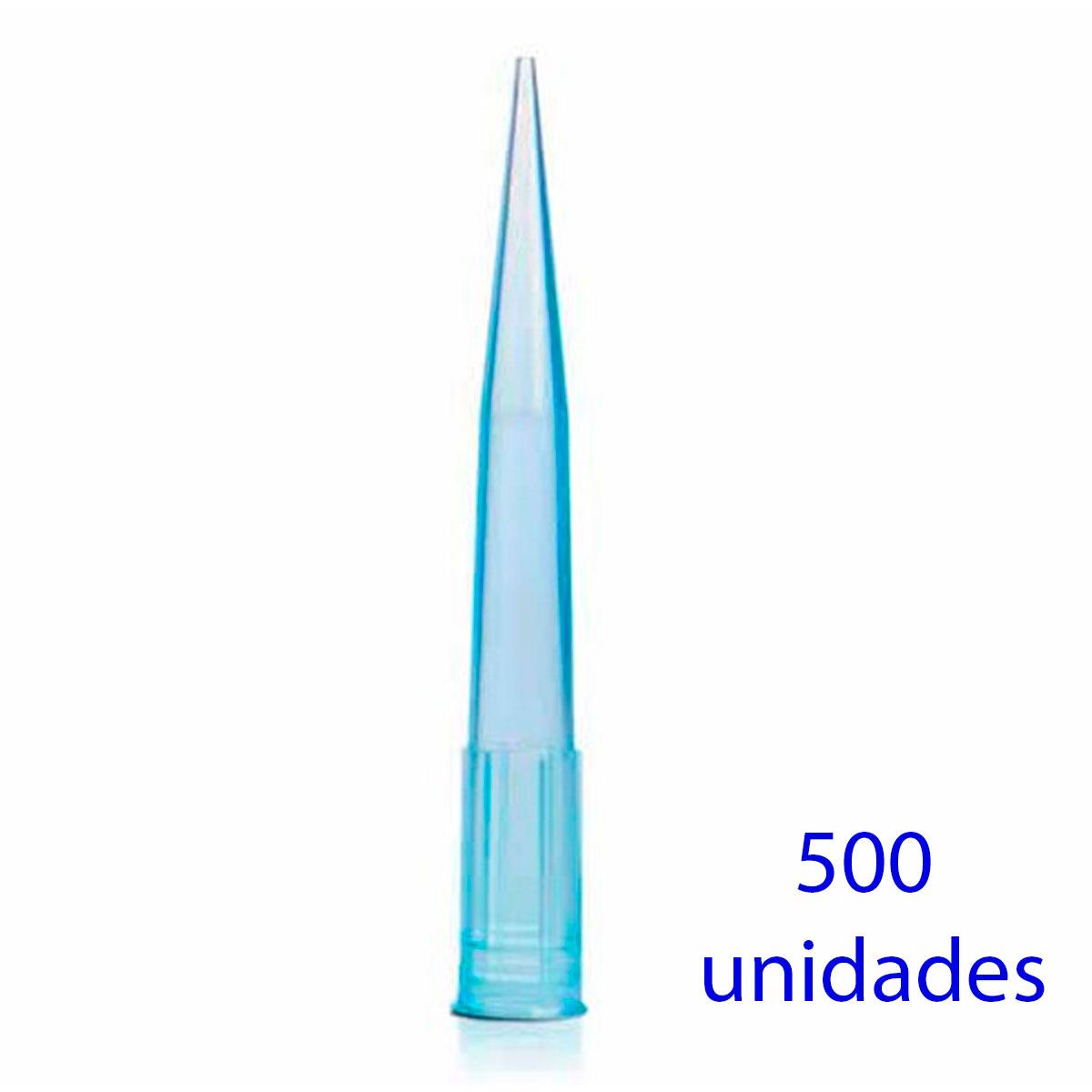 PONTEIRA SEM FILTRO 100-1000UL TIPO GILSON, AZUL. 500UN/PCT