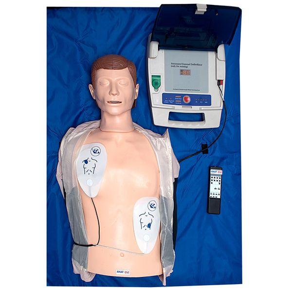 Simulador de torso para treinamento RCP e DEA