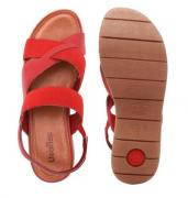 Sandalia Papete Usaflex Aa3005 Vermelha