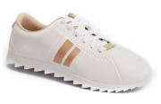 Sapatenis Moleca 5632100 Branco/ Dourado