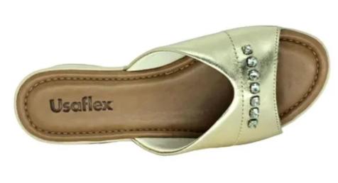Sandalia Papete Usaflex V1259 Prata