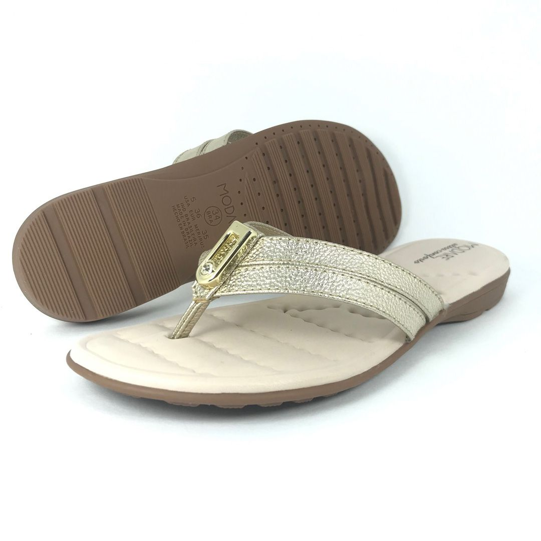 Sandalia Rasteira Modare 7053139 Dourado