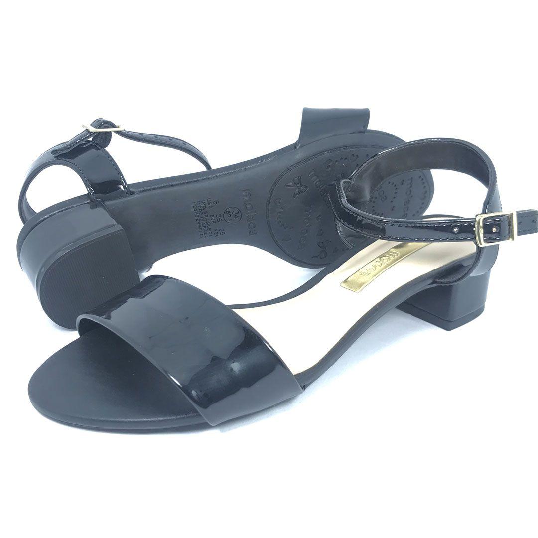 Sandalia Salto Baixo Moleca 5259505 Preta