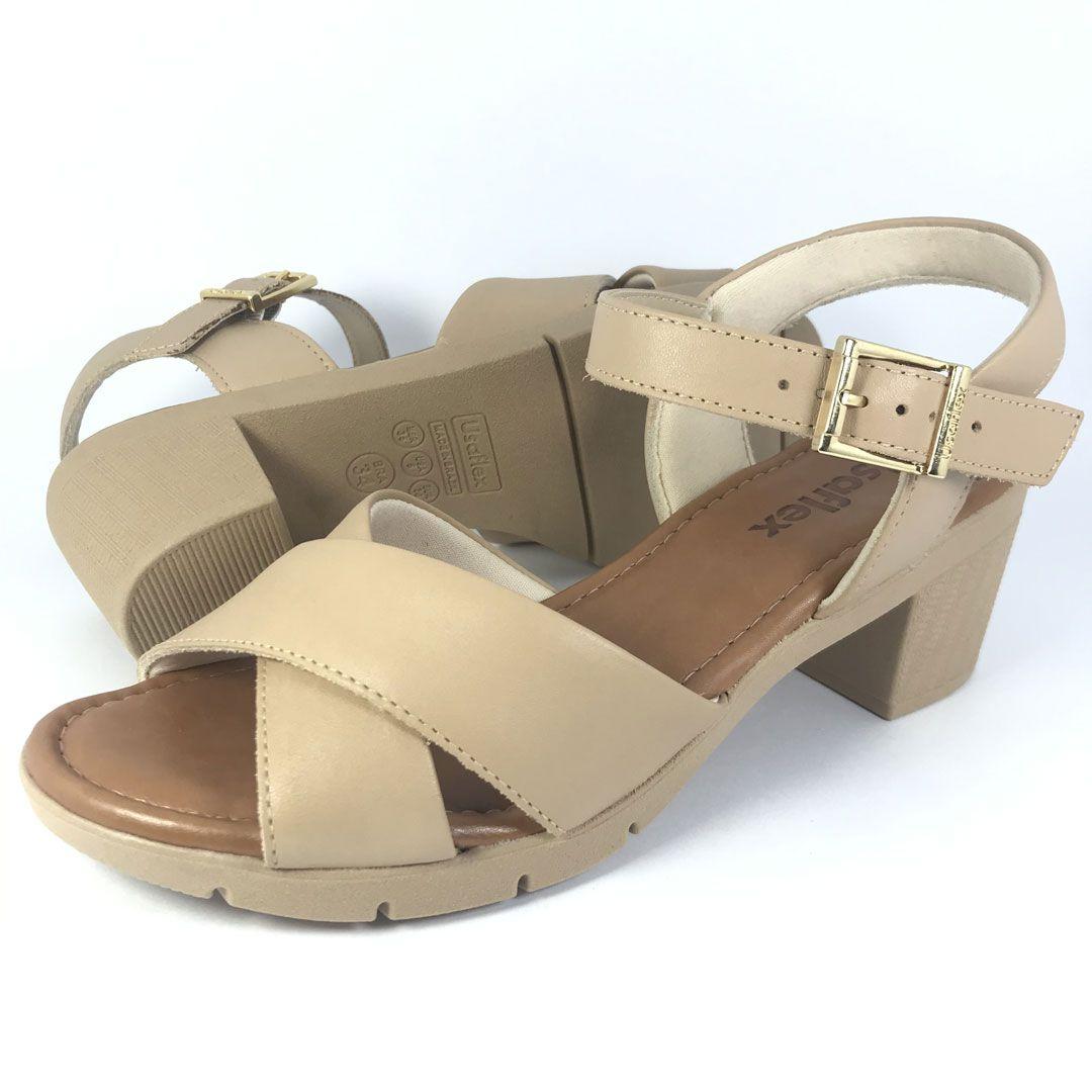 Sandalia Salto Medio Usaflex Aa0606