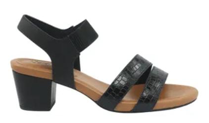 Sandalia Salto Medio Usaflex Ac5505 Preta
