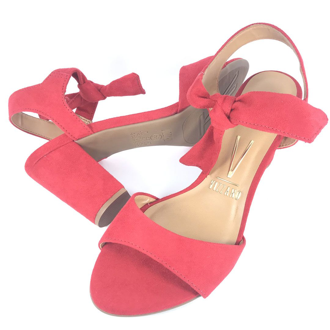 Sandalia Salto Medio Vizzano 6262247 Vermelha