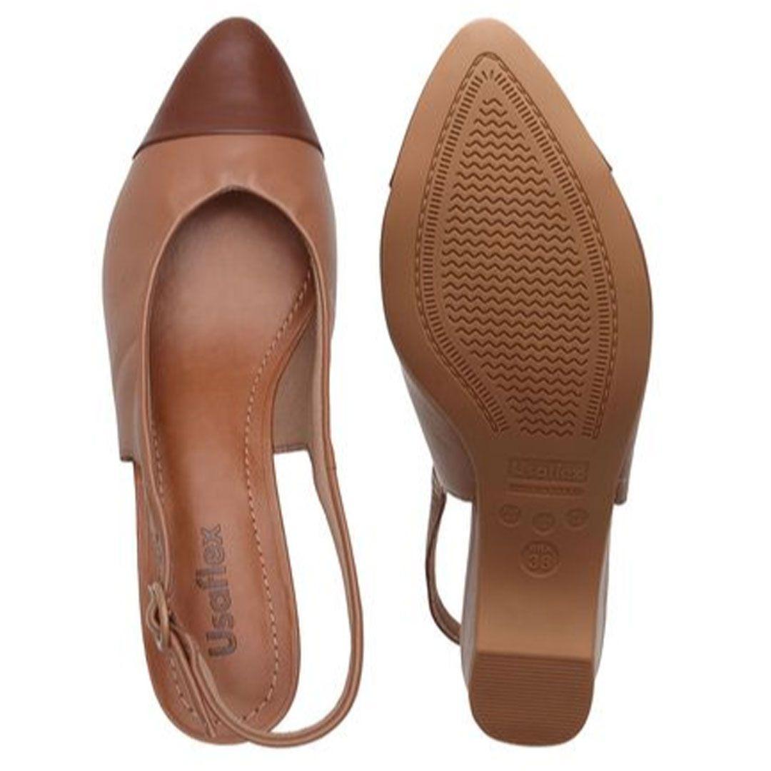 Sapato Casual Usaflex Ac3406 Castanho