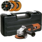 Kit Esmerilhadeira angular de 4.1/2 pol. 820w + 12 discos e maleta - g720k12 Black & Decker
